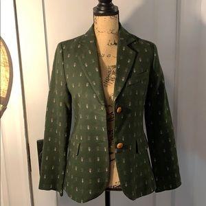 Anthropology forest green blazer.